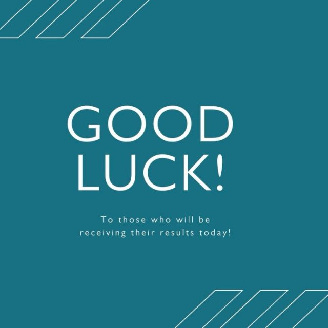 ⭐️ Good luck to those receiving their results today! ⭐️   You should be proud of everything you did to reach this point! ✨