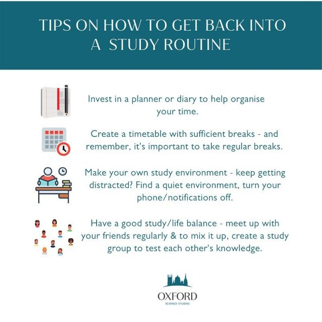 Struggling to get back into routine?   Not sure how to plan your time effectively?   Here's some tips to help you get back into a study routine. If you need any help with some online tuition, feel free to get in touch.   📧 info@oxss.co.uk  📞 01865 240637 💻 www.oxss.co.uk  #studystudy #studytips #studyinspiration #studyday #studyspiration #studysession #tuition #onlinetuition #revision #gcse #igcse #alevels #ib #studyspace #studystudy #studyroutine