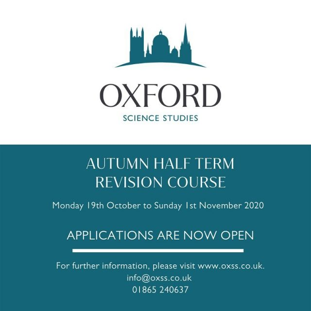 Applications are open for our Online Autumn Half Term Revision Course!🍂 💻  Get a heart start on your revision this year!   💻 www.oxss.co.uk 📧 info@oxss.co.uk 📞 01865 240637  #revision #backtoschool #oxford #oxfordrevision #oxfordrevisiononline #gcse #alevel #igcse #internationalbaccalaureate #onlinetuition #onlineclasses #revisioncourses #gcserevision #alevelrevision